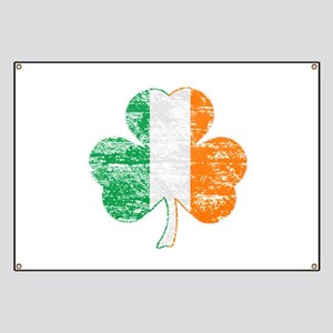 Vintage Irish Flag Shamrock Banner