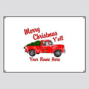 Merry Christmas Yall Banner