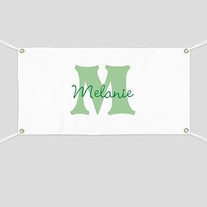 CUSTOM Green Monogram Banner