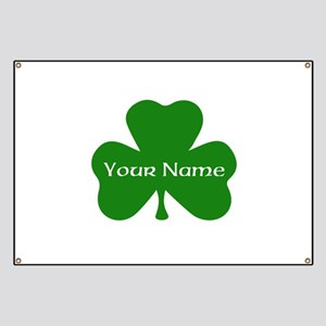 CUSTOM Shamrock with Your Name Banner