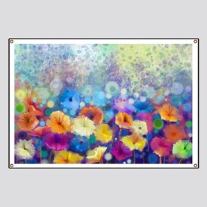 Floral Painting Banner
