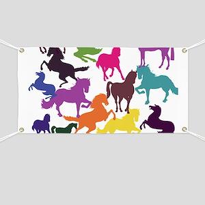 Rainbow Horses Banner