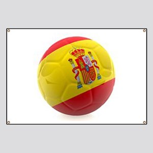Spain world cup soccer ball Banner