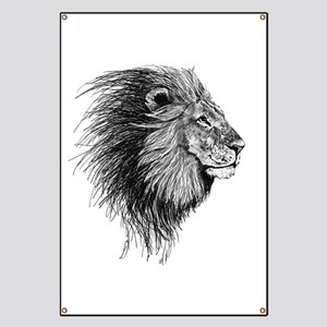 Lion (Black and White) Banner