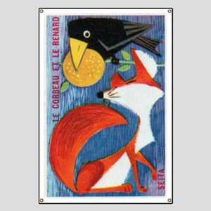 The Crow and The Fox French Matchbox Label Banner