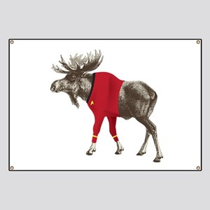 Moose Red Shirt Banner