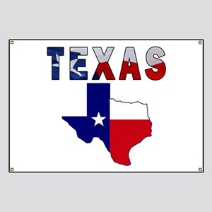 Flag Map With Texas Banner