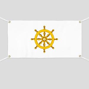 DHARMA BUDDHISM WHEEL Banner