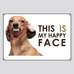 Happy Face Dachshund Banner