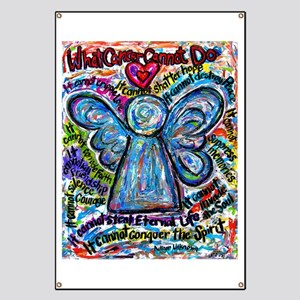 Colorful Cancer Angel Banner