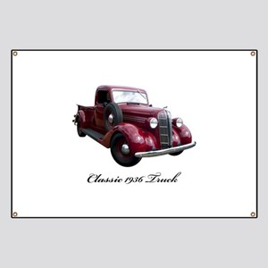 1936 Old Pickup Truck Banner