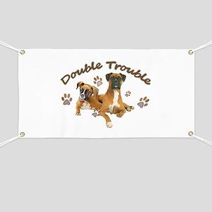 Boxer Double Trouble Banner