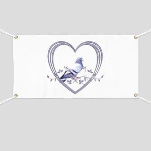 Pigeon in Heart Banner