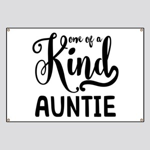 One of a kind Auntie Banner