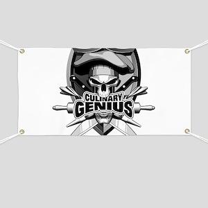 Culinary Genius Skull Banner
