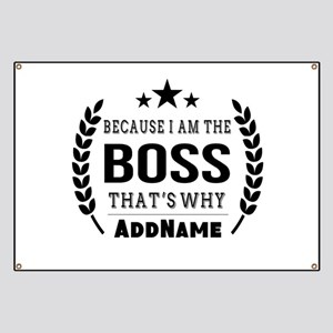 Gifts for Boss Personalized Banner