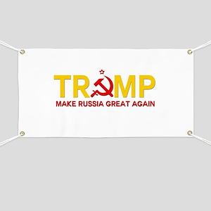 Trump Make Russia Great Again Banner