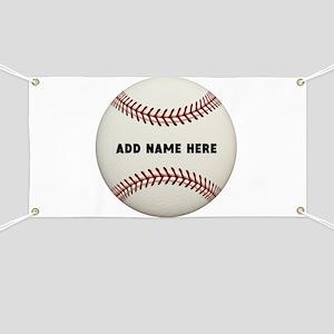 Baseball Name Customized Banner