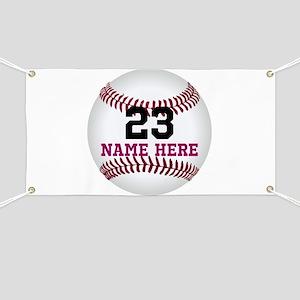 Baseball Player Name Number Banner