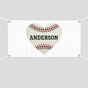 Baseball Love Personalized Banner