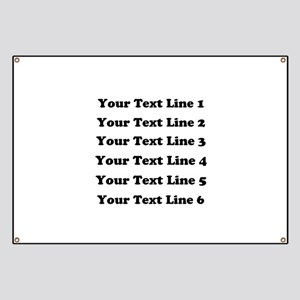 Customize Six Lines Text Banner