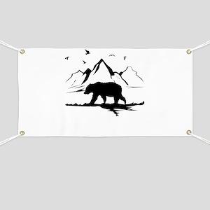 Mountains Wilderness Bear Banner