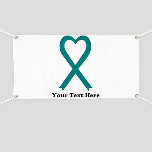 Personalized Teal Awareness Ribbon Banner