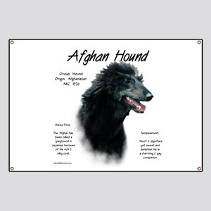 Afghan Hound (black) Banner
