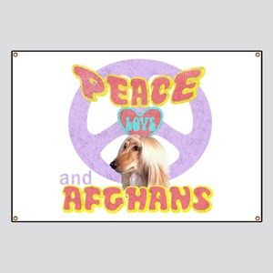 PEACE LOVE and AFGHANS Banner
