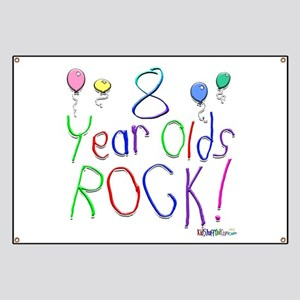 8 Year Olds Rock ! Banner