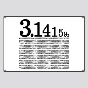 3.1415926 Pi Banner