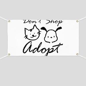 Don't Shop, Adopt Banner