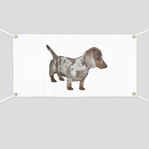 Speckled Dachshund Dog Banner