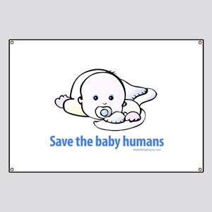 Save the baby humans - Banner