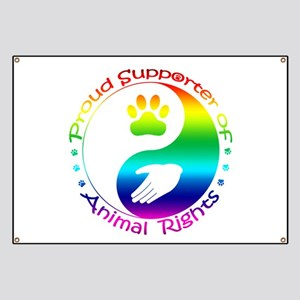 Supporter of Animal Rights Banner
