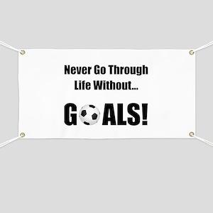 Soccer Goals! Banner