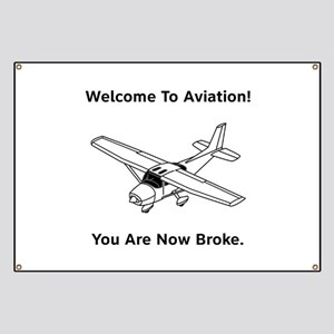 Aviation Broke Style B Banner