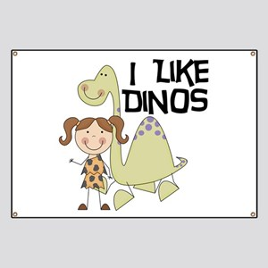 Girl I Like Dinos Banner