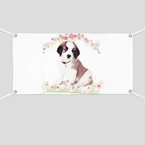 Saint Bernard Flowers Banner