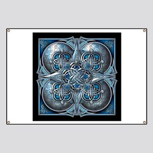 Silver & Blue Celtic Tapestry Banner