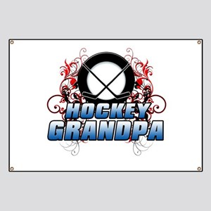 Hockey Grandpa (cross) Banner