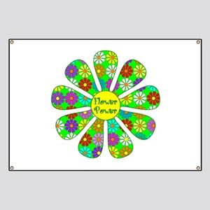 Cool Flower Power Banner