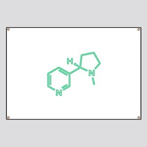 Nicotine Molecule Banner
