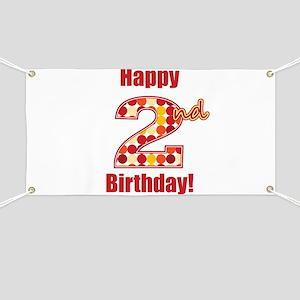 Happy 2nd Birthday! Banner