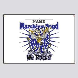 Marching Band Rocks(Blue) Banner