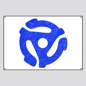 Blue Distressed 45 RPM Adapter Banner