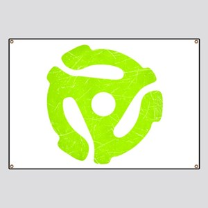 Lime Green Distressed 45 RPM Adapter Banner