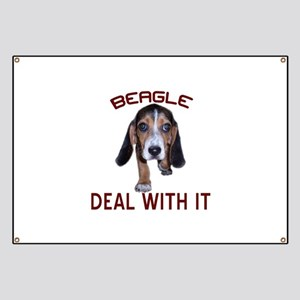 Beagle Deal With It Banner