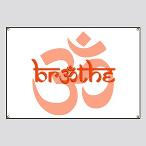 Breathe with OM Symbol ( Orange / Dark Orange ) Ba