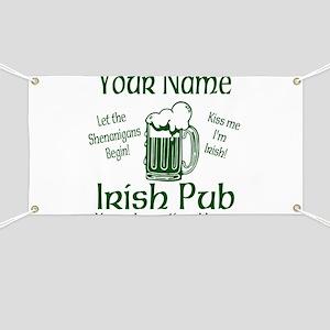 Custom Irish pub Banner